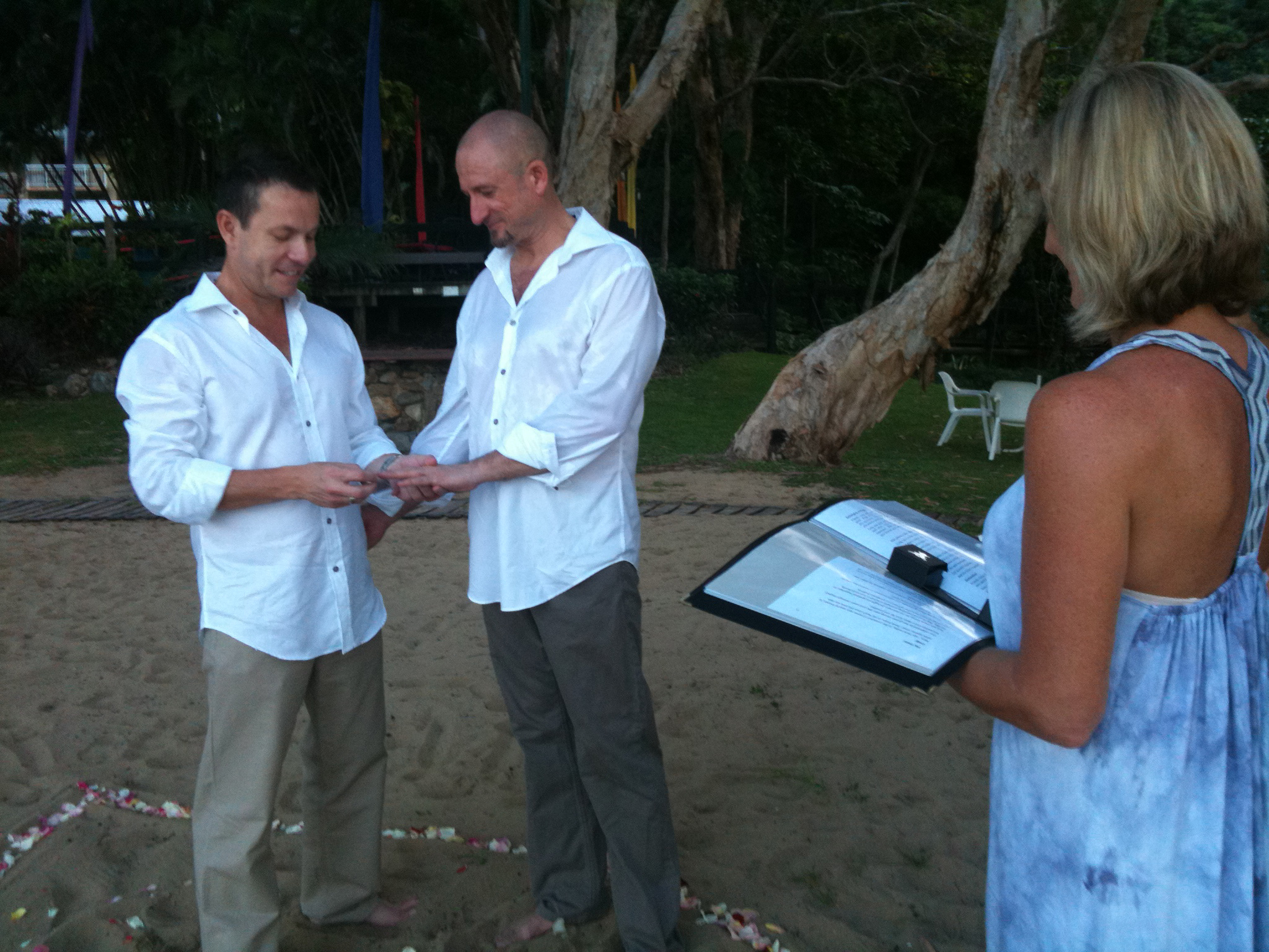 Marriage Celebrant Vicki Lever couple Nick & Craig